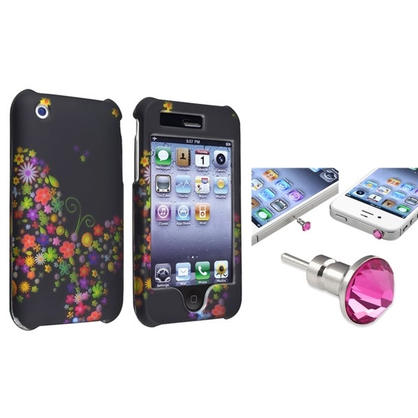 BasAcc Case/ Pink Diamond Dust Cap for Apple iPhone 3G/ 3GS