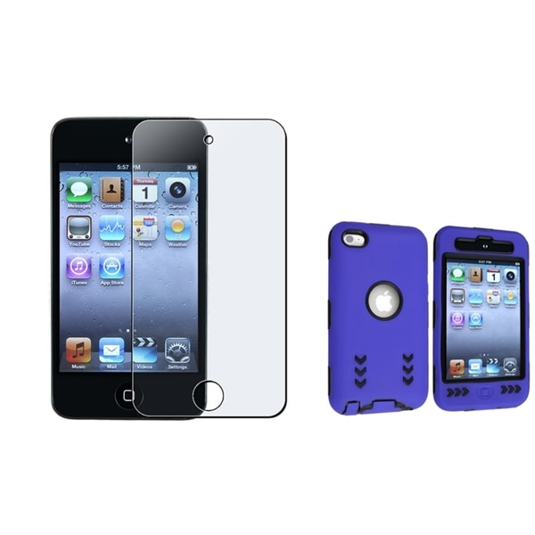 BasAcc Hybrid Case/ LCD Protector Apple iPod Touch 4th Generation (Pack of 2)
