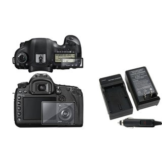 BasAcc Glass Screen Protector/ Charger Set for Canon EOS 5D Mark III