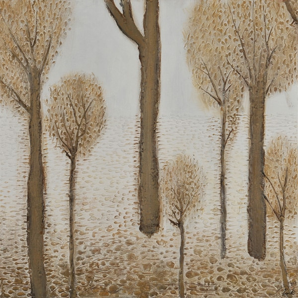 Catherine Brink 'Ivory Forest I' Hand-painted Canvas Art