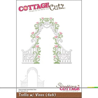"CottageCutz Die 4""X6""-Tresslis With Vines"