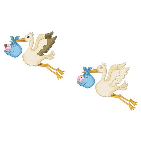 """CottageCutz Die 4""""X4""""-Flying Stork"""