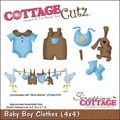 CottageCutz Die 4&quot;X4&quot;-Baby Boy Clothes
