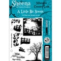 "Sheena Douglas Unmounted Stamp Set 5-1/2""X8-1/2""-Silhouette Country Lane"
