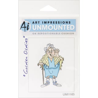 Art Impressions Golden Oldies Cling Rubber Stamp-Flo