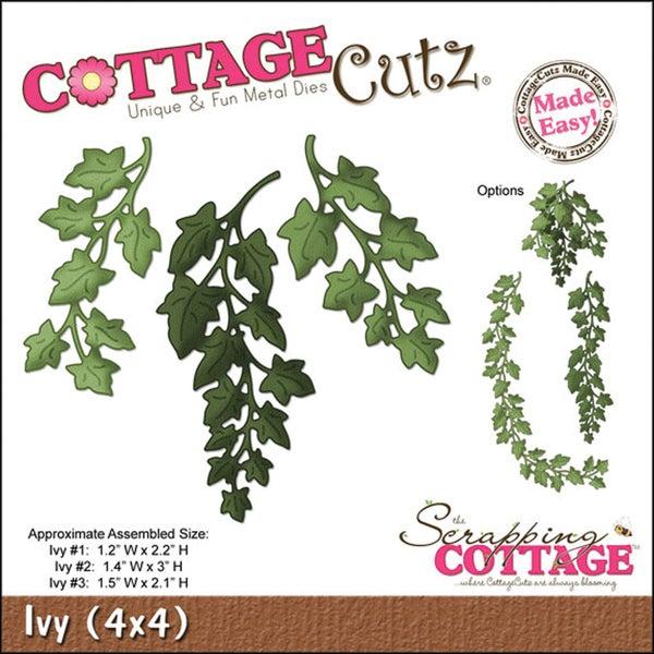 """CottageCutz Die 4""""X4""""-Ivy Made Easy"""