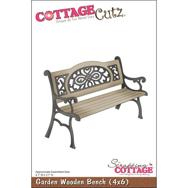 """CottageCutz Die 4""""X6""""-Garden Wooden Bench"""