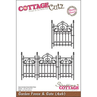 "CottageCutz Die 4""X6""-Garden Fence & Gate Made Easy"