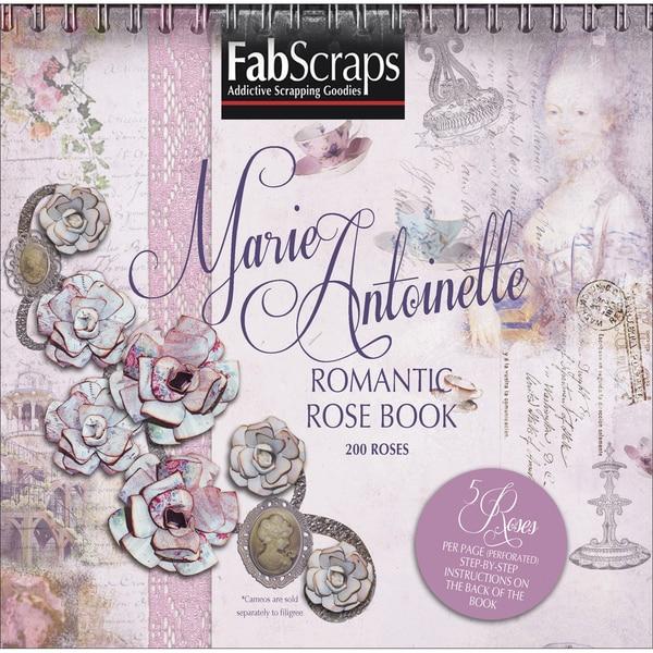 """Marie Antoinette Paper Flowers Die-Cut Pad 8""""X8""""-Makes 200 Romantic Roses"""