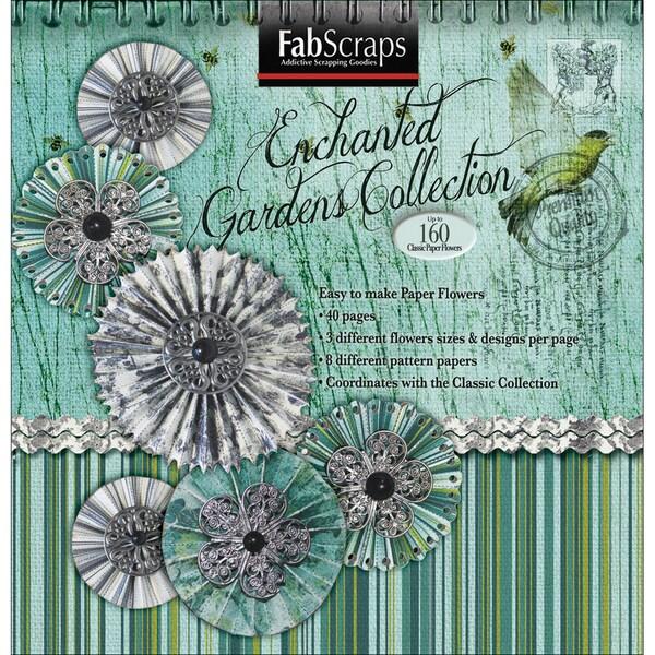 """Enchanted Gardens Paper Flowers Die-Cut Pad 8""""X8""""-Makes 160"""