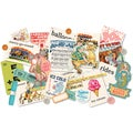 Midway Miscellany Embellishment Assortment-Die-Cuts, Buttons & Ribbon