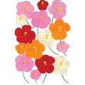 Martha Stewart Stickers-Pink/Red/Orange Poppy