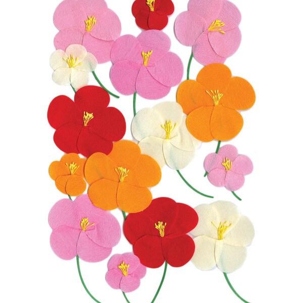 Martha Stewart Stickers-Pink/Red/Orange Poppy
