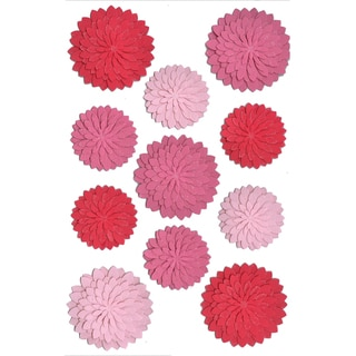 Martha Stewart Stickers-Red/Pink Dahlia