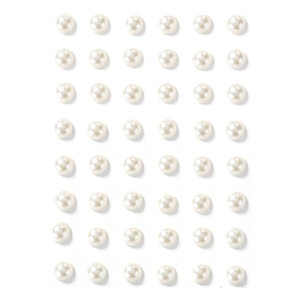 Martha Stewart 3D Stickers-White Pearls
