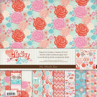 Lucky In Love Paper And Accessories Kit 12