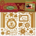 "Dazzles Stickers 6""X12"" 3 Sheets-Christmas Lace"