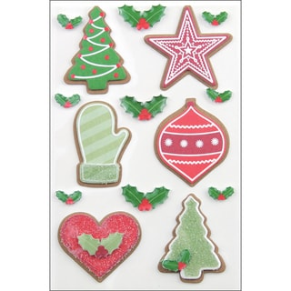 Martha Stewart Christmas Stickers-Cottage Christmas Cookie
