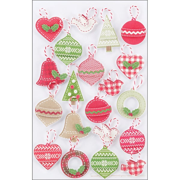 Martha Stewart Christmas Stickers-Cottage Christmas Ornament