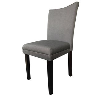 Classic Brown Fabric Parson Dining Chairs (Set of 2)
