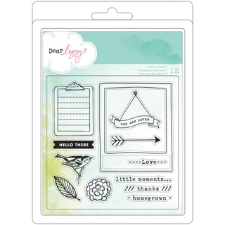 """Dear Lizzy 5th & Frolic Acrylic Stamps 4""""X4""""-"""