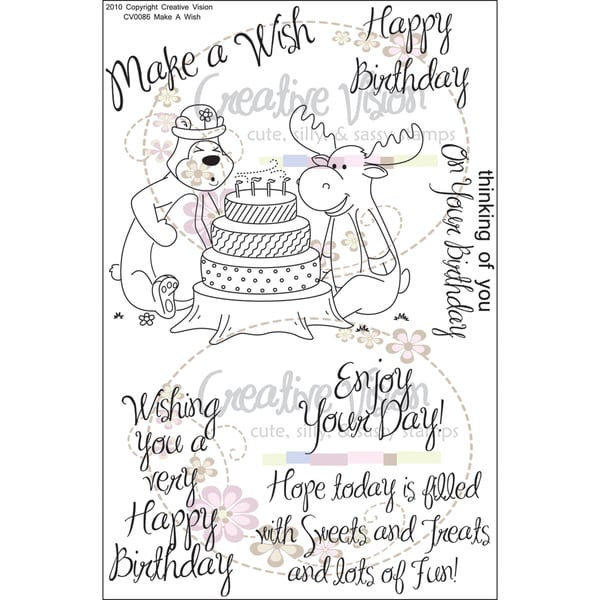 "Clear Stamps 4""X6""-Make A Wish"