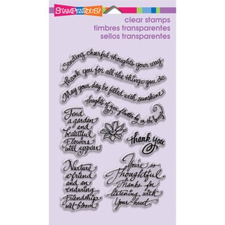 "Stampendous Perfectly Clear Stamps 4""X6"" Sheet-Thoughtful Wishes"