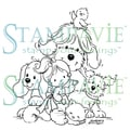 "Stampavie Laurence Design 3-1/2"" Clear Stamp-Tobi And Friends"