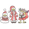 Stamp-It Holiday EZMount Cling Stamp Set-Worldly Santas
