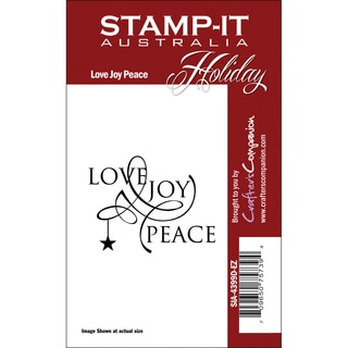 Stamp-It Holiday EZMount Cling Stamp Set-Love Joy Peace