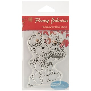 """Stampavie Penny Johnson Clear Stamp-Christmas Pudding 3-1/2"""""""