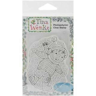 "Stampavie Tina Wenke Clear Stamp-Making Snow Angels 3-1/2"""
