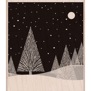 Hero Arts Mounted Rubber Stamps-Winter Moon