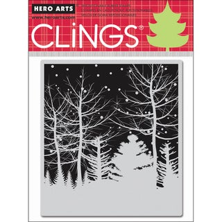 Hero Arts Cling Stamps-Snowy Winter Nights