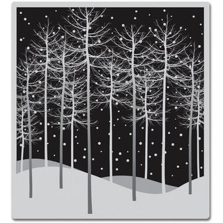 Hero Arts Cling Stamps-Winter Trees