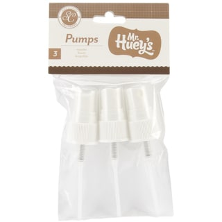 Mister Huey's Spray Bottle Replacement Pumps With Caps 3/Pkg-For Use On 1 Ounce Misting Sprays SC1