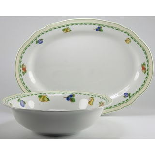 Cornwall Garden Decor 2-piece Fine Porcelain Completer / Serving Set