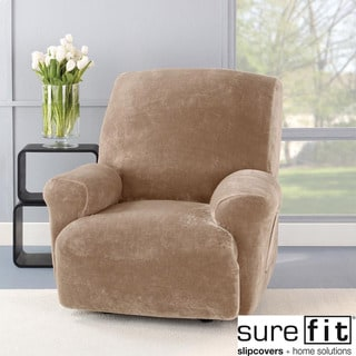 Stretch Plush Sable Recliner Slipcover