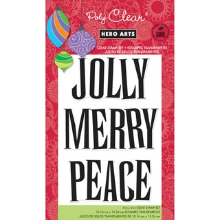 """Hero Arts Clear Stamps 4""""x6"""" Sheet-Jolly"""