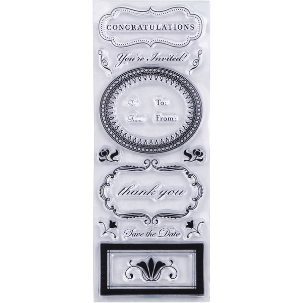 Martha Stewart Clear Stamps-Phrases and Greetings