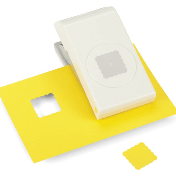 Nesting Paper Punch-Scallop Square 1""