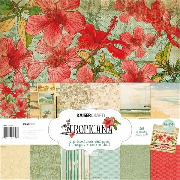 "Tropicana Paper Pack 12""X12""-"