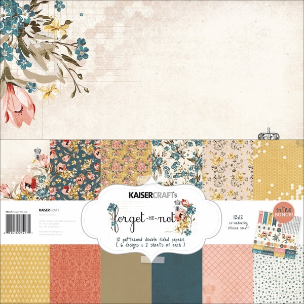 """Forget-Me-Not Paper Pack 12""""X12""""-"""