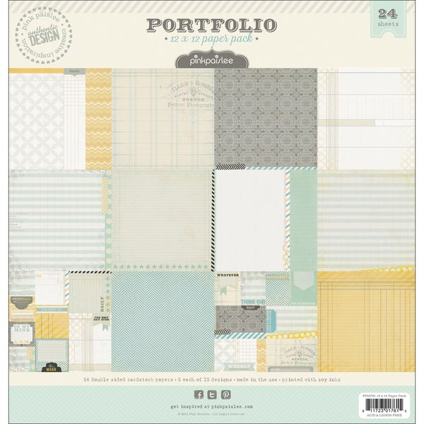 "Portfolio Double-Sided Paper Pack 12""X12"" 24 Sheets-12 Designs/2 Each"