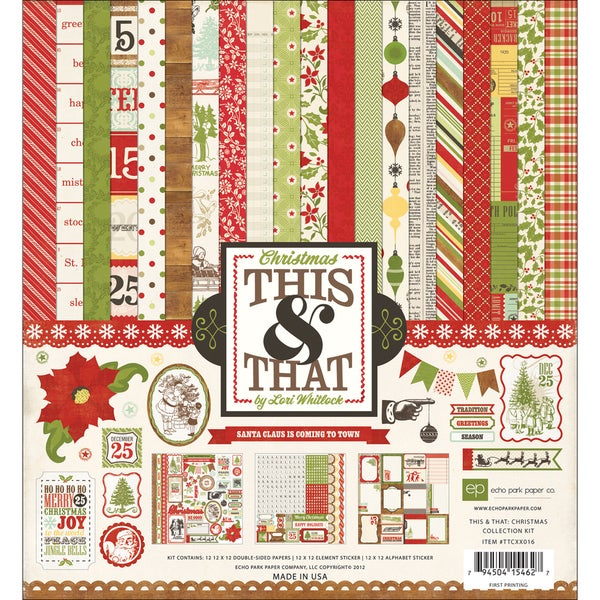 "This & That Christmas Collection Kit 12""X12""-"