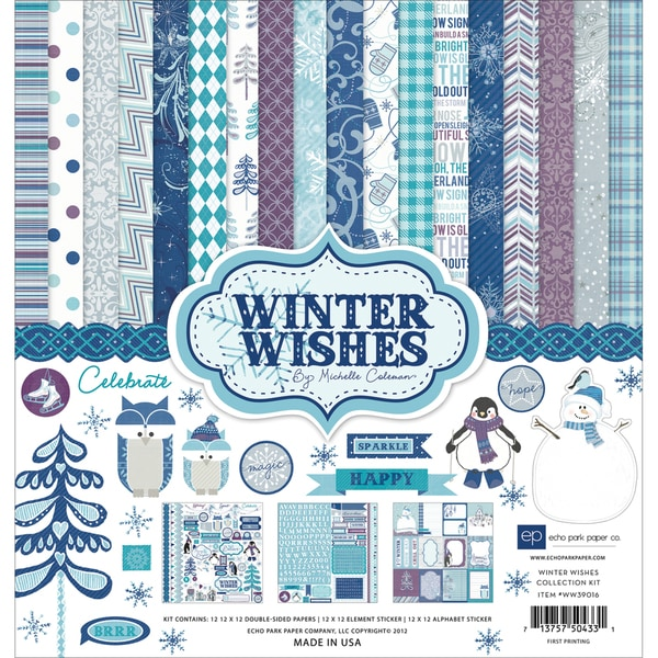 """Winter Wishes Collection Kit 12""""X12""""-"""