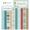 "Winter Fun Double-Sided Cardstock Pad 6""X6"" 24/Sheets-"