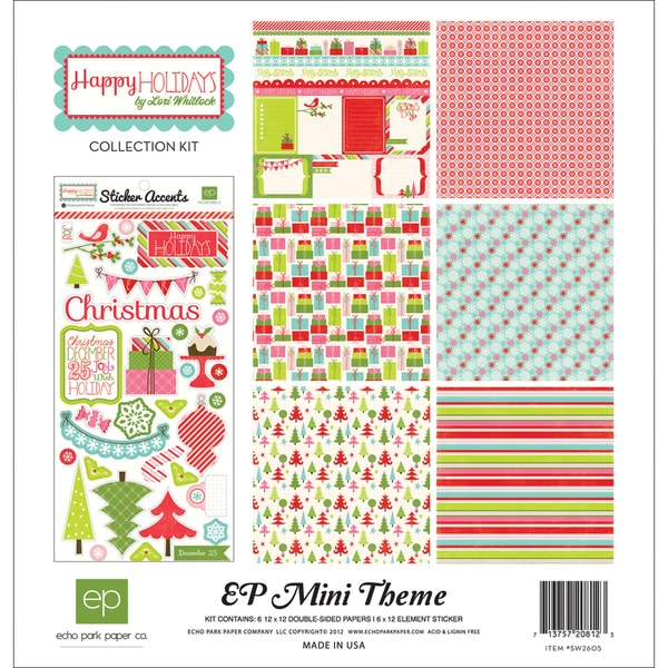 "Happy Holidays! Collection Kit 12""X12""-"
