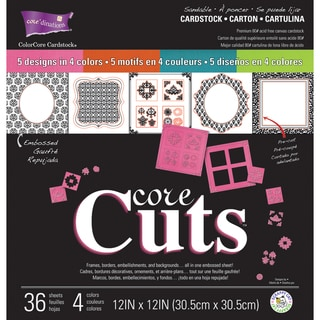 "Core'dinations Core Cuts Assortment 12""X12"" 36/Pkg-"