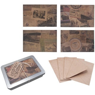 "Idea-Ology District Market Notecards/Envelopes 4""X6"" 12 Sets-Destinations 4 Styles/3 Each"